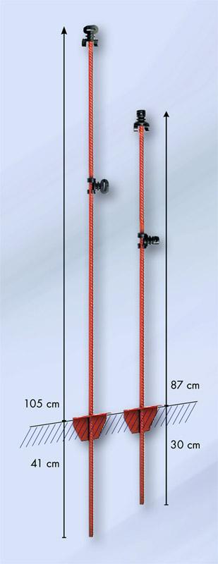 Kovinski stebrički - shema
