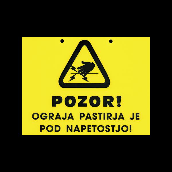 Opozorilna tablica Pozor